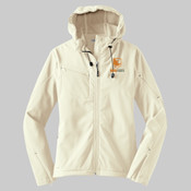 L706 - Ladies Textured Hooded Soft Shell Jacket