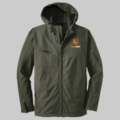 *706 - Textured Hooded Soft Shell Jacket, Por